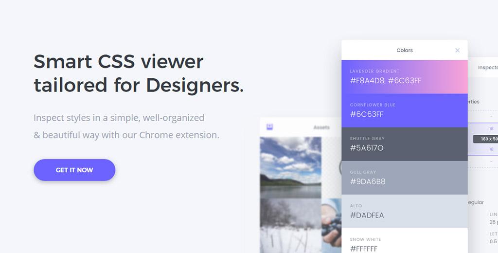 为前端设计师量身打造,视觉化查看网站CSS样式表谷歌插件CSSPeeper